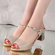 Femme Chaussures Polyuréthane Eté Confort Sandales Pour Décontracté Or Argent