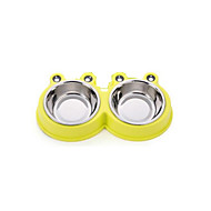 ネコ 犬 餌入れ/水入れ ペット用 ボウル&摂食 防水 携帯用 耐久 レッド グリーン