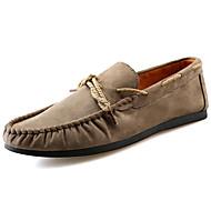 남성 보트 신발 워킹화 컴포트 스웨이드 봄 가을 캐쥬얼 플랫 블랙 다크 블루 카키 5cm- 7cm