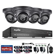 Sannce® 4ch cctv система безопасности onvif 1080p ahd / tvi / cvi / cvbs / ip 5-in-1 dvr с камерами 4 * 2.0mp нет hdd