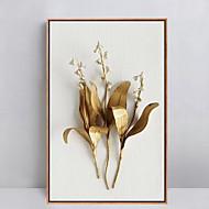 Floral/Botânico Pinturas a Óleo Emolduradas Arte de Parede,Poliestireno Material com frame For Decoração para casa Arte EmolduradaSala de