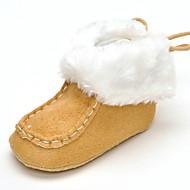 Baby Flache Schuhe Komfort Modische Stiefel Stoff Herbst Winter Hochzeit Normal Kleid Party & Festivität Schnürsenkel Flacher AbsatzWeiß