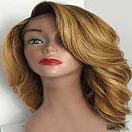 Premier® Affordable Brazilian Human Virgin Unprocessed Hair Wavy Style Glueless Lace Front Hair Wigs For Women