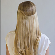 20-calowy jedwab prosty niewidzialny przewód 100% remy prawdziwe ludzkie przedłużanie włosów 120g