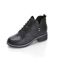 Ženske Oksfordice svečane cipele Jesen PU Kauzalni Formalne prilike Vezanje Niska potpetica Crn Sive boje Lila-roza 2.5 cm - 4.5 cm