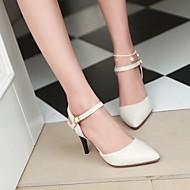 Ženske Cipele PU Ljeto Udobne cipele Cipele na petu Stiletto potpetica Krakova Toe S Za Kauzalni Crn Bež Light Pink