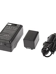 BP-727 2685mAh Bateria Filmadora com carregador de carro para Canon Vixia HF M50, Vixia HF M500