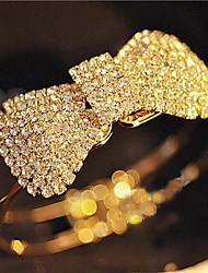 Full Crystal Bowknot Bangle Bracelet Christmas Gifts