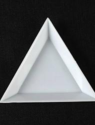 1db háromszög nail art kit tároló doboz