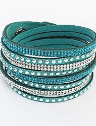Women's Bangles Wrap Bracelet Leather Bracelet Tennis Bracelet Basic Friendship European Fashion Long Multi Layer Costume Jewelry Leather