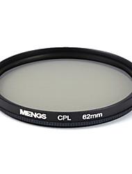 mengs® 62mm cpl circular protector filtru de polarizare cu rama de aluminiu pentru aparat foto digital SLR și / DSLR / dc / camera video