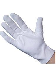 etiqueta grânulos luvas brancas de algodão luvas de trabalho do disco luvas luvas qc
