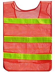 oranjerode dikkere sectie mesh mesh reflecterend vest vest verkeersveiligheid kleding waarschuwing kleding