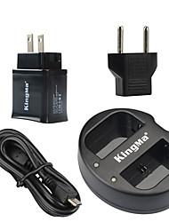 Kingma dupla usb carregador para canon bateria LP-E6 e Canon EOS 5D2 5D3 70d 6d 7d2 7d 60d com poder usb adaptador de tomada