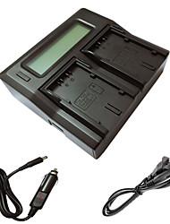 ismartdigi lcd D28S carregador duplo com cabo de carga do carro para Panasonic MD10000 DS25 batterys câmera DS27 mx3 MX500 GS15
