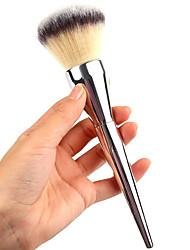 1 Кисть для пудры Синтетические волосы Офис Металл Лицо Прочее