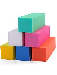 10pcs Schwamm polieren chunk Nagelstudio Verbrauchs Maniküre Werkzeuge (gelegentliche Farbe)