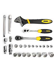 Stanley dois - manipular cromo vanádio chave de aço 27 peças 10-12,5 milímetros lt-025-23 conjunto de ferramentas manual