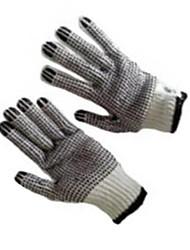 Luvas do skadden luvas plásticas do trabalho da operação dobro-face luvas protetoras industriais / 1 vício