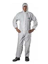 L sms sata roupas à prova de poeira pó leve produto químico roupa de proteção química roupas de roupa siameses