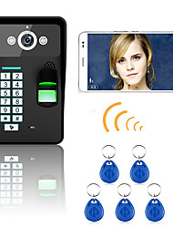 720p bezdrátové wifi rfid heslo rozpoznávání otisků prstů dveřní telefon dveřní systém intercom systém noční vidění vodotěsný fotoaparát s
