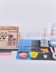 Boîte à outils à l'époxy cristallin à la main fabriquée par crabe Kingdom® diy assemblée par vous-même type de mise à niveau
