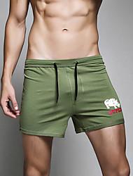 Heren Slips, shorts en broeken Kleurenblok Effen Sport Retro Inrijgen,Kleurenblok
