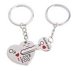 Hearts Shape Lovers Stainless keychains (2 Pieces/Set)
