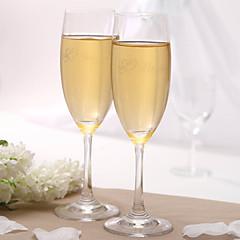 gepersonaliseerde roosteren fluiten - bruid en bruidegom