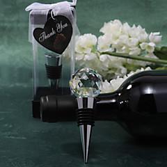 Bottiglia Favor Tappi bottiglia Classico Non personalizzato Acrilico / Cromo Argento 1Pezzo/Set