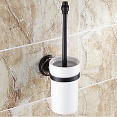 Toiletbørsteholder / Olieret bronzeMessing Keramik /Traditionel