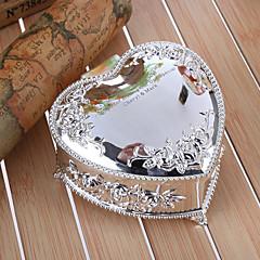 מתנת שושבינה מתנות אישית קופסא תכשיטי סגסוגת בולטות לב פרחוני אבץ בצורה