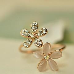 Naisten Nauhasormukset Säädettävä Avoin pukukorut Timanttijäljitelmä Opal Metalliseos Flower Shape Päivänkakkara Korut Käyttötarkoitus