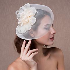 נשים אורגנזה כיסוי ראש-חתונה קישוטי שיער פרחים כובעים