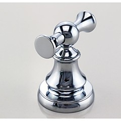 badeværelse tilbehør solid messing krom færdig dobbelte knage 59003