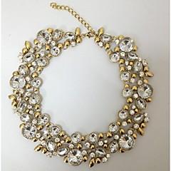 ciclo de la vendimia de la moda collares redondos collar de la declaración gargantilla de cristal