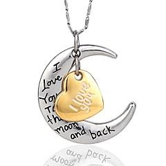 Žene Ogrlice s privjeskom Heart Shape mjesec Glina Pozlaćeni Ljubav kostim nakit Personalized Jewelry Za Party Rođendan Dnevno Kauzalni