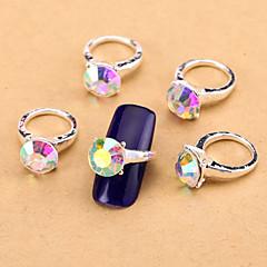 Nail Jewelry/Other Decorations - Kukka/Abstrakti/Lovely/Häät - Sormi - Metalli - 11*7.5*1.5 - 10