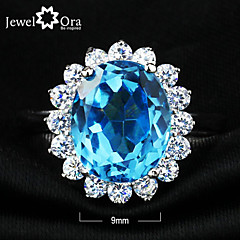 Sormukset,Sterling-hopea Cubic Zirkonia Korut Sterling-hopea Tyylikkäät sormukset