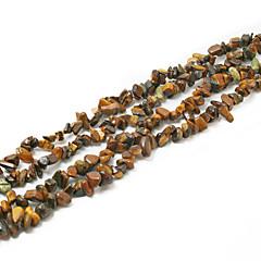 "Beadia Tiger Eye Stone Beads 5-8mm Irregular Shape DIY Loose Beads Fit Necklace Bracelet Jewelry 34""/Str"