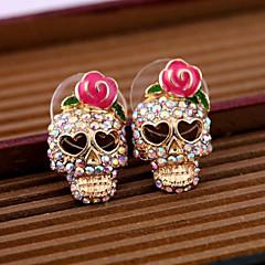 Femme Boucles d'oreille goujon bijoux de fantaisie Alliage Forme de Tête de Mort Bijoux Pour Quotidien Décontracté