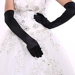 Kyynärpääpituus Kynsikkäät Glove Spandex Morsiuskäsineet Juhlakäsineet Kevät Kesä Syksy Talvi