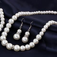 Női Nyaklánc medálok Biserna ogrlica Gyöngy Ötvözet jelmez ékszerek Menyasszonyi Európai Ékszerek Kompatibilitás Esküvő