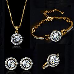 Dames Kostuum juwelen Kristal Kettingen Oorbellen Ringen Armband Voor Bruiloft Feest Verjaardag Verloving Dagelijks Causaal Giften van