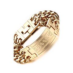 Homens Pulseiras em Correntes e Ligações bijuterias Aço Inoxidável Chapeado Dourado Jóias Para Festa Diário Casual Esportes