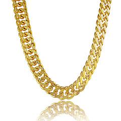 Herre Kjedehalskjeder Sirkelformet Line Formet Platin Belagt Gullbelagt Gullfylt Legering Personalisert kostyme smykker Smykker Til