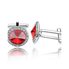 1 Pair Men's High Quality  Crystal Cufflinks