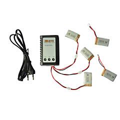 Syma x5c / x5c-1 istraživači dijelovi x5c-11 3.7V 650mah lipo baterije 3 u 1 kabelskih linija x 5kom w / B3 punjač