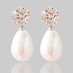 Boucle Forme Ovale Bijoux 1 paire Mode Mariage / Soirée Alliage Femme Argent