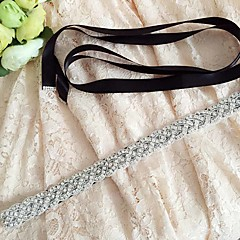Satin Wedding / Party/ Evening / Dailywear Sash - Sequins / Beading / Rhinestone Women's Sashes